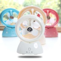 Mini Water Spray Humidifier Fan USB Small Cooling Fan Water Wizard Touch Switch Rechargable Mist Ventilador Office Home Gadgets